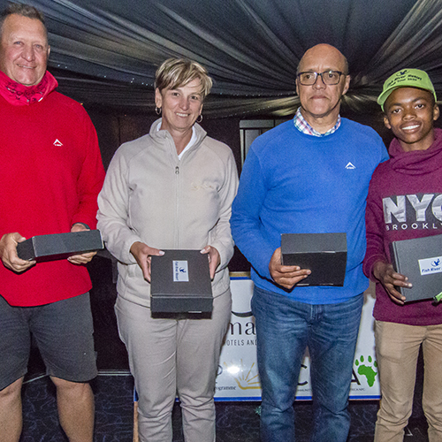 3rd Place - Willem & Anita Oosthuizen, Anthony Segers, Esona Mlandeli